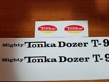 MIGHTY TONKA DOZER T-9 DECAL SET WITH OVAL LOGOS