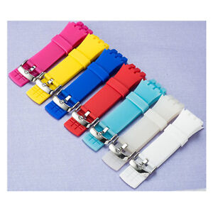 New High Quality Soft Rubber Watch Band Strap For (Fits) SWATCH Touch SURB100