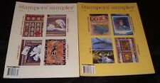 Lot 2 Stampers' Sampler Stampington Magazine Stamping Cards Feb/Mar Apr/May 2002