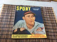 1953  MAY SPORT MAGAZINE COVER PHOTO BOB LEMON CLEVELAND INDIANS