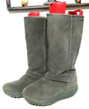 Womens Skechers Shape UPs toning XF Avalanche grey suede winter faux fur boots 8