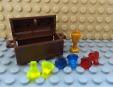 LEGO Treasure Chest Gold Wine Glass 6 Gems Various Colours Pirate Ship Island