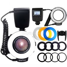 Macro LED Ring Flash Light Speedlight Speedlite for Canon Nikon Sony Hotshoe sz