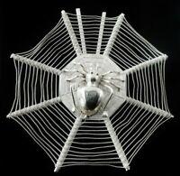 Chinese Export Silver Spiders Web Menu Holder, Leun Hing Shanghai c.1910