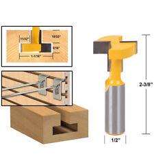 Straight T-Slot Router Bit 1/2 Inch Shank Carbide Wood Milling Cutter. UK SELLER