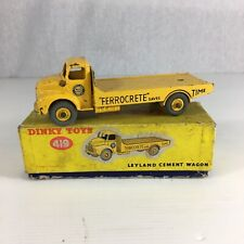 Vintage Dinky Toys Leyland Cement Wagon 419 Boxed 14cm In Length