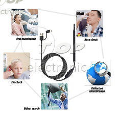USB Endoscope 3 in1 Ear Cleaning LED Visual Ear Spoon Earpick Otoscope Camera