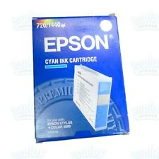 Genuine Epson S020130 Cyan Ink Cartridge Stylus Color 3000