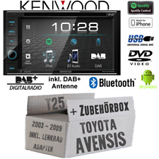 Kenwood Radio für Toyota Avensis T25 Lenkrad Bluetooth DAB Digital Spotify Set
