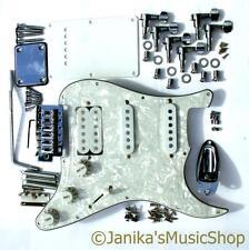 HSS stratocaster type parts loaded pearl pickguard machine heads tremolo bridge