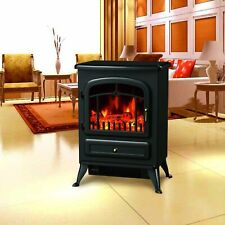 "21.6"" Free Standing 1500W Electric Fireplace Portable Adjustable"