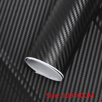 100*40cm 3D Matte Black Carbon Fiber Textured Car Vinyl Wrap Sticker Decal Film