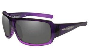 Harley-Davidson Women's Wiley X Hoops Grey Lens Purple Frame Sunglasses HAHPS01