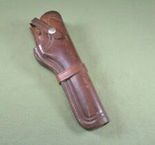 Vintage Browning Revolver Gun Long Holster Handcrafted Brown Leather