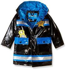 Wippette Baby Boys' Policeman Rainwear, Black, 18 M