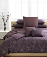 New Calvin Klein Prune Elm Twin Comforter Set w/ Sham Plum Purple