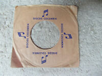 sleeve only  COLUMBIA DISCOS   45 company picture sleeve only 45
