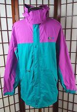 VTG 80s Gore Tex Kolon Sport Mens Waterproof Jacket Blue Purple Outdoor Winter