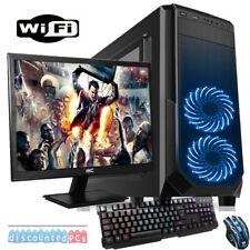 VELOCE Quad Core DESKTOP PC COMPUTER PER GIOCARE Set 3.6GHz GHZ 16GB 1TB gtx1030