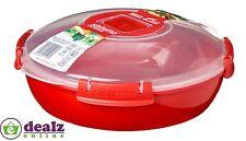 Sistema MICROONDE PIASTRA ROTONDA pranzo Box Dish contenitore di plastica 1.3 L privo di BPA