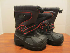 Toddler Little Boys Size 6 Winter Snow Boots New, Back Zipper.FREE SHIPPING!