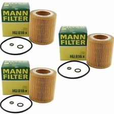 Mann Oil Filter HU816x 3 Pack fits BMW 5 Series E60 525i 530i
