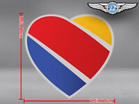 SOUTHWEST AIRLINES SOUTH WEST SWA CUT TO SHAPE HEART LOGO STICKER / DECAL