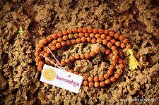 5mm RUDRAKSHA RUDRAKSH JAPA MALA ROSARY 108 +1 BEAD YOGA HINDU MEDITATION PRAYER
