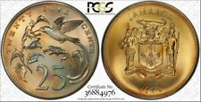 1973-FM Jamaica 25 Cents PCGS MS67 Beautiful Color Toned! Only 1 Graded Higher!!
