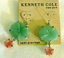 New on Card- KENNETH COLE NEW YORK Semi-Precious Stone Dangle Earrings Signed KC