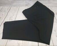 Calvin Klein Dress Pants Sz 24W Women Black Career Semi Stretch Work Trouser