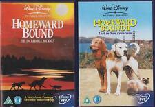 HOMEWARD BOUND 1 & 2 [One,Two] Disney Animal Family Adventure 2 Disc DVD *EXC*