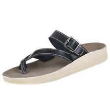 Markenlose Damen-Sandalen & -Badeschuhe-Zehentrenner aus Echtleder