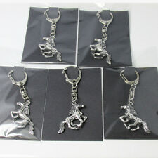 x5 Equestrian Cantering Horse Clip On Key Rings,Bag Charms,Wholesale Job Lots UK