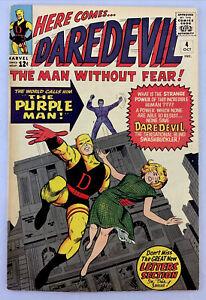 Daredevil #4 FN/VF- 7.0 1964 1st app. Killgrave the Purple Man