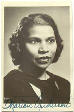 Marian Anderson African American Contralto Singer, Activists Signed Photograph