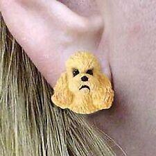 Conversation Concepts Poodle Apricot w/Sport Cut Earrings Post