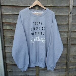 Oversized Spellout Grey Sweatshirt From USA