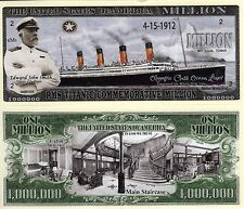 RMS Titanic Commemorative w/Cpt Smith Million Dollar Novelty Money