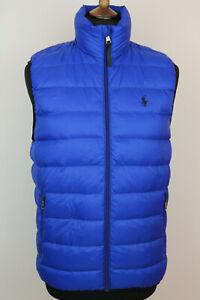 Polo Ralph Lauren Mens Blue Down Gilet Bodywarmer Waistcoat size M