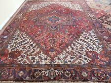 8x11 or 7.5 x 10.9.Antique Fine Serapi Heriz Rug Vintage Ushak Kazak Caucasian