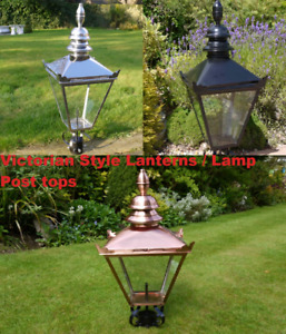 Antique Style Victorian Lanterns Lamp Post Tops Various Finishes