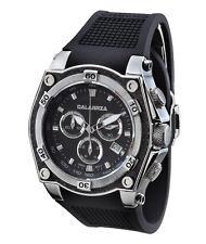 CALABRIA - AZZARDO - Black Dial Chronograph Men's Watch W. Carbon Fiber Bezel