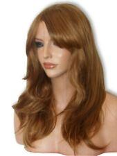 Brown Auburn Ginger Fashion Flick Fringe Women Real Natural Costume Wig K10