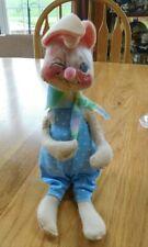 Vintage Blinking Annalee Bunny Rabbit Mobilitee Doll 1965-1971 Meredith NH USA