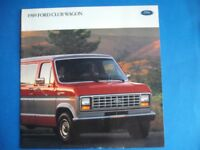 1989 FORD CLUB WAGON SALES DEALER BROCHURE  12 PAGES