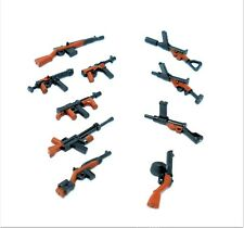 Superb Gun Set WW2 Machine Rifle Military Toy Weapons for LEGO Minifigures!!