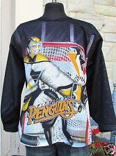Pittsburgh Penguins Authentic CCM Goalie Black Jersey Mens Small Colorful Color