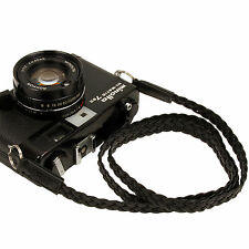 Black Leather Mesh 13mm Neck Shoulder Camera Strap for Film SLR DSLR RF Digital