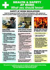 Health and Safety AT WORK A2 POSTER / SIGN Ref HS106 420 x 594mm